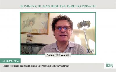 BUSINESS, HUMAN RIGHTS E DIRITTO PRIVATO   Teorie e concetti del governo delle imprese (corporate governance)